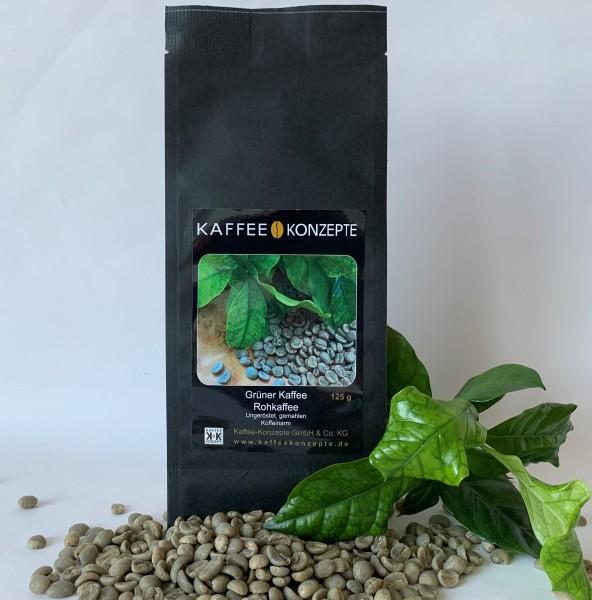 Kaffee-Konzepte Grüner Kaffee